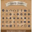 图库矢量图片: Pictogram multimedisymbols set