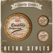 Vintage Labels template set. Retro logo design — Stock Vector