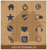 Web software pictogram symbols set isolated — Stock Vector
