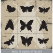 Nature butterflies silhouettes sign vector set — Stock Vector #23365254
