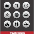 Travel symbols vector set — Stock Vector