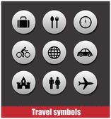 Travel symbols vector set — Stock Vector