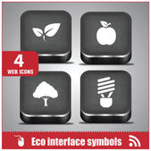 Web eco interface symbols Mobile phone icons — Stock Vector