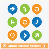 Arrows interface symbols set — Stock Vector
