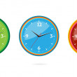Colored and creative classic clocks set — Stock Vector #6014856