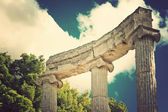 Archaeological Site of Olympia, Greece. Vintage style. — Foto Stock