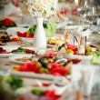 Table set for an event party or wedding reception — Stock Photo #12288166