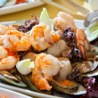 Fresh and healthy salad with shrimps — Stock Photo #43483433