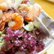 Fresh and healthy salad with shrimps — Stock Photo #43483435