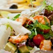 Fresh and healthy salad with shrimps — Stock Photo #43659407