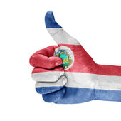 Costa Rica Flag On Hand — Stock Photo