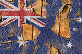 Grunge Flag Of Australia — Stock Photo