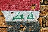 Bandiera del grunge dell'iraq — Foto Stock