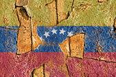 Grunge Flag Of Venezuela — Stok fotoğraf
