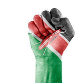 Flag Of Kenya On Hand — Stock Photo