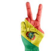 Bolivia (state) Flag On Victory Hand — Stock Photo
