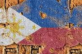 Filipinler bayrağı grunge — Stok fotoğraf