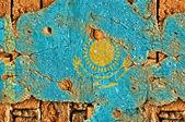 Grunge Flag Of Kazakhstan — Stock Photo