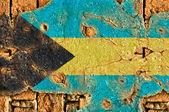 Grunge 国旗的巴哈马 — 图库照片