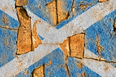 Grunge Flag Of Scotland — Stock Photo