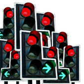 Green & Red Traffic Lights — Stock Photo