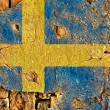 Grunge Flag of Sweden - Foto de Stock