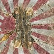 Grunge Naval Ensign of Japan — Stock Photo