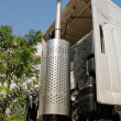 Foto Stock: Truck exhaust