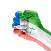 Flag Of Equatorial Guinea On Hand — Stock Photo