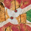Grunge Flag of Burundi — Stockfoto