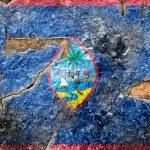 Постер, плакат: Grunge Flag of Guam