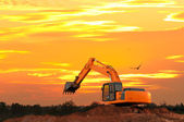 Excavator at Construction Site — Stock Photo