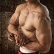 Stock Photo: Portrait Muscular Male Torso