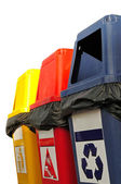Colorful Recycle Bins — Stock Photo