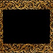 Picture frame traditional thai style — Stock Photo