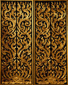 Pattern golden engrave traditional thai style — Stock Photo