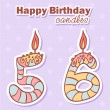 Birthday candles nubmer figures set - Imagen vectorial