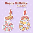 Birthday candles nubmer figures set - Image vectorielle