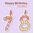 Stock Vector: Birthday candles nubmer figures set