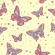 Royalty-Free Stock Vector Image: Colorful butterflies seamless pattern