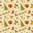 Seamless Christmas hand drawn pattern — Stock Vector #13480874