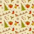 Seamless Christmas hand drawn pattern — Stock Vector