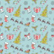 Seamless Christmas hand drawn pattern — Stock Vector #13480876