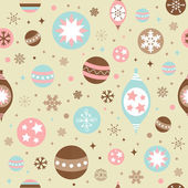 Beautiful design Christmas seamless pattern with xmas toys — Stock Vector