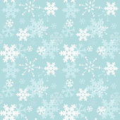 Decorative winter Christmas seamless texture with snowflakes — Stock Vector
