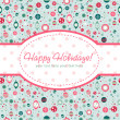 Decorative Christmas postcard on seamless background — Stockvektor