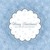Postal de navidad decorativos sobre fondo transparente — Vector de stock