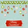 Christmas greeting card with xmas toy garland — Stock Vector