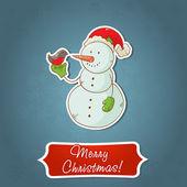 рождество снеговик приглашения открытки — Cтоковый вектор