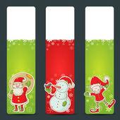 Christmas congratulation stickers — Stock Vector